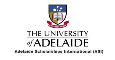 Adelaide Scholarships International (ASI) 2020