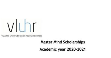 Government of Flanders Master Mind Scholarships 2020/2021 for International Students