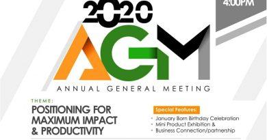 Entrepreneurs Network 2020 AGM Holds Tuesday 28/01/2020 – OgbongeBlog