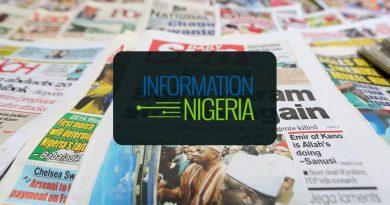 Nigerian Newspaper Headlines Today: 2nd February 2020