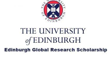 Edinburgh Global Research PhD Degree Scholarships 2020-2021 for International students