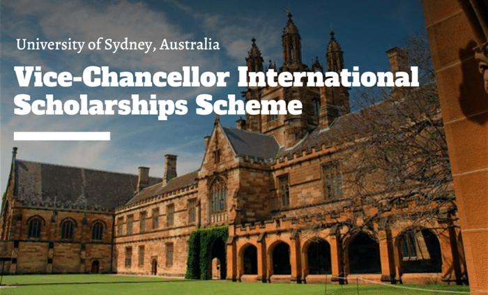 Vice-Chancellor International Scholarships Scheme 2020/2021 at University of Sydney