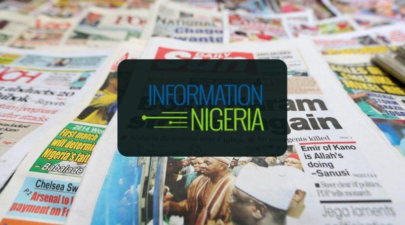 Nigerian Newspaper Headlines Today: 31st May 2020