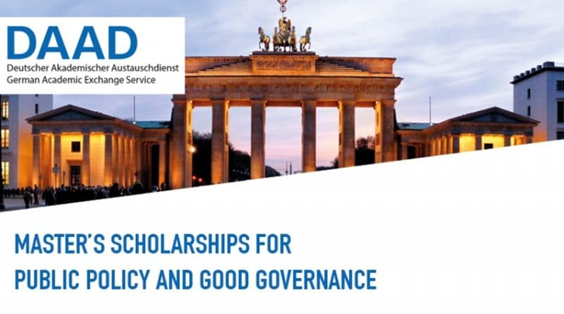 DAAD Helmut-Schmidt Masters Scholarships for Public Policy and Good Governance 2020/2021