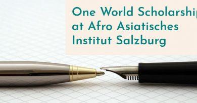 One World Scholarship at Afro Asiatisches Institut Salzburg 2020/2021