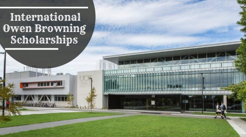 Owen Browning Scholarships in Forestry at the University of Canterbury 2020/2021