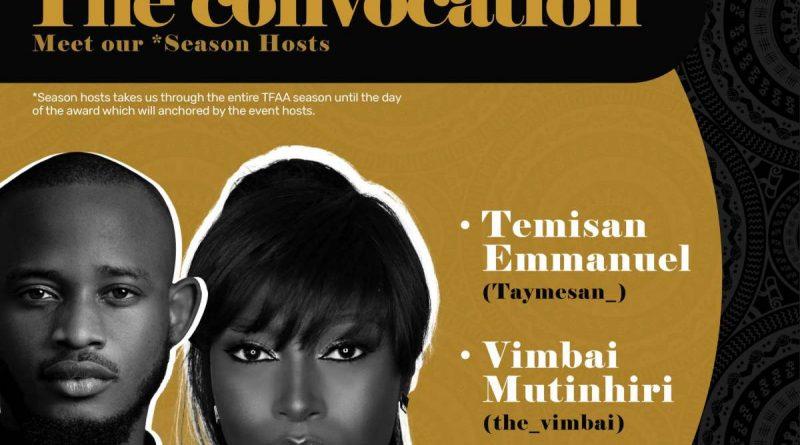 TFAA announces Vimbai Mutinhiri and Taymesan Emmanuel as Season Hosts