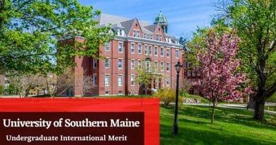 University of Southern Maine International Merit Scholarship 2020/2021