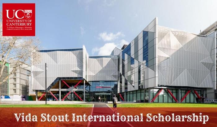Vida Stout Scholarship 2020/2021 for International Students at University of Canterbury