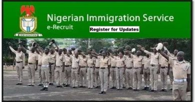 Nigeria Immigration Service Recruitment 2020 Form at NIS Recruitment Portal www.immigrationrecruitment.org.ng