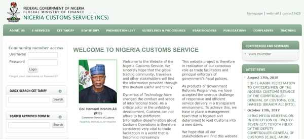 Nigeria Customs Service Recruitment 2020 (Latest Updates) www.customs.gov.ng