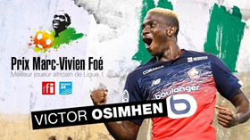 Best African Player In Ligue 1: Lille's Victor Osimhen Wins Prix Marc-Vivien Foe 2020:: All Nigeria Soccer