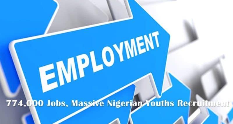 774,000 Jobs, Massive Nigerian Youths Recruitment 2020 - Application Form & Portal