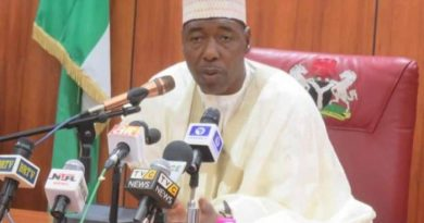 Gov Zulum condemns killing of aid workers in Borno