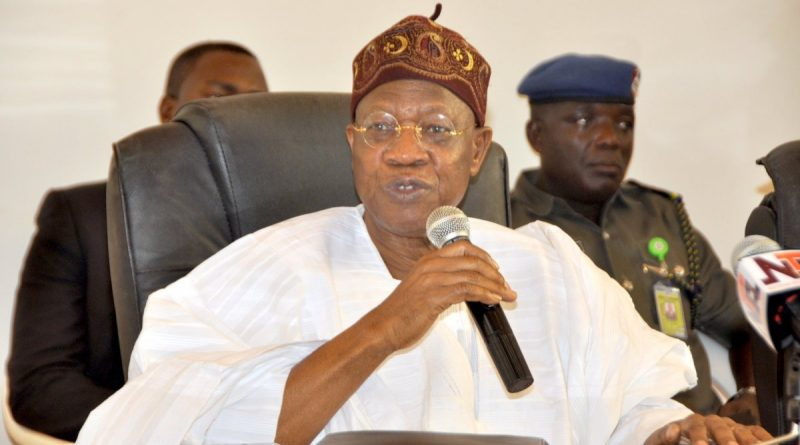 FG Corruption Fight Still Very Alive: Lai Mohammed
