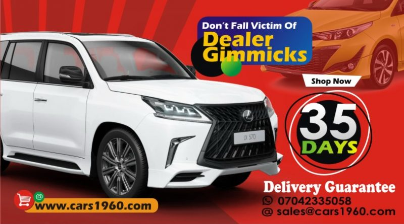 Avoid car dealer gimmicks, 35 days delivery guaranteed- Cars 1960