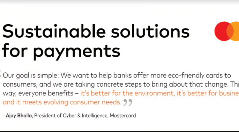 Mastercard Leads The Payments Industry Forward To A More Sustainable Future