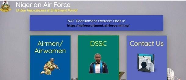 nafrecruitment.airforce.mil.ng Registration for BMTC Airmen/Airwomen 2020