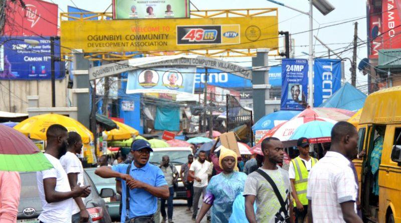 Zero Social Distancing, No Face Masks At Lagos Computer Village
