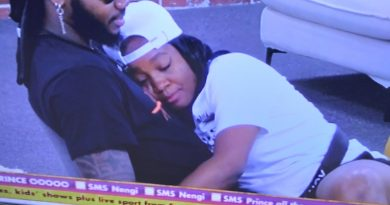 BBNaija 2020: Reactions as Lucy sleeps on Praise's bed, sits on his laps [VIDEO]