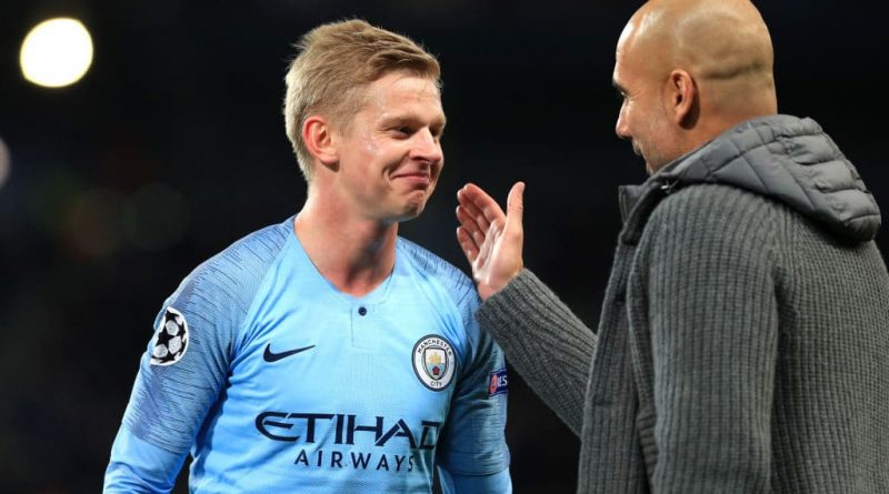 Zinchenko Fiancee Blames Guardiola For UCL Defeat To Lyon