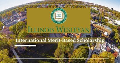 Illinois Wesleyan University International Students Scholarships 2021/2022