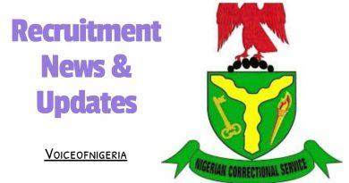 Nigerian Prisons Service Recruitment 2020 News Portal www.prisons.gov.ng.