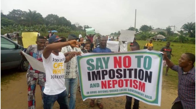 Akwa Ibom polls: Youths protest imposition of Chairmanship candidate