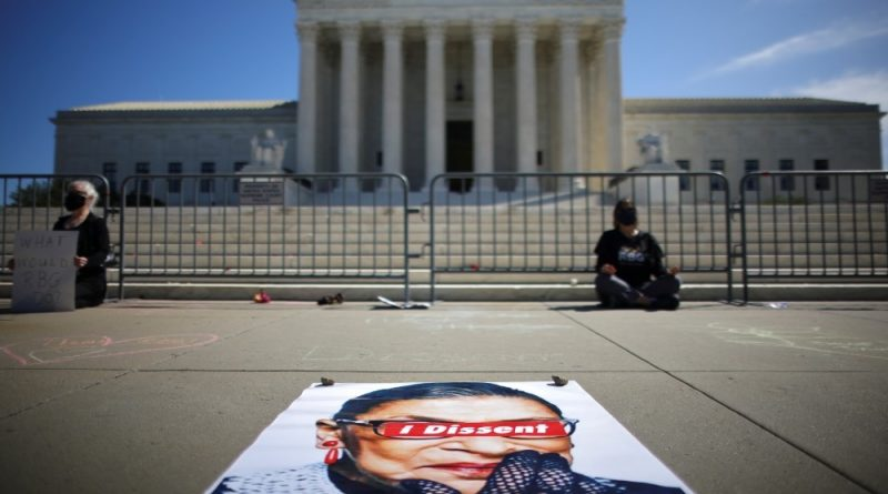 'She set an example for us': Crowd honours RBG at Supreme Court | US & Canada News