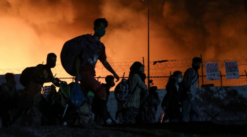 'Everything is burning': Refugees escape as fire hits Moria camp | News