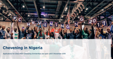 Chevening UK Scholarship 2020/2021 for Nigerians - How to Apply