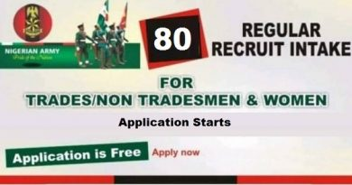 Nigeria Army 80rri Recruitment 2020 Portal Registration at ims.army.mil.ng