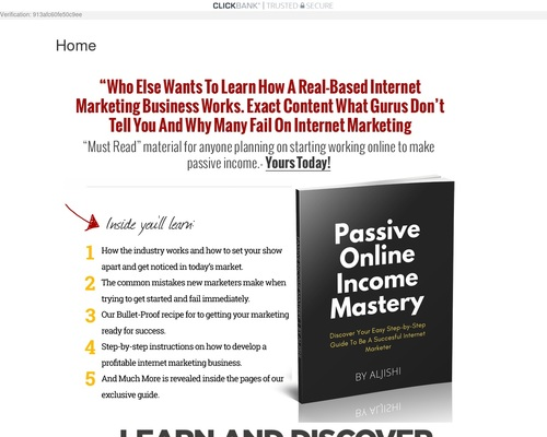 Passive Online Income Mastery – The Best Online Making Money Systems