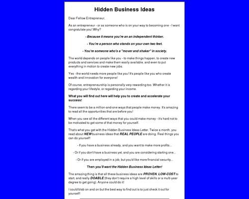 Hidden Business Ideas